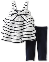 Kate Mack Seaside Petals Tunic and Legging Set (Toddler) (White) - Apparel