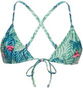 Mara Hoffman Leaf-print triangle bikini top