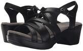 Dansko Stevie (Black Full Grain) Women's Sandals