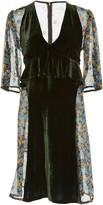 Anna Sui Apples and Cherries Vintage Velvet Dress