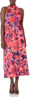 Tahari ASL Women's Halter Neck Floral Dress