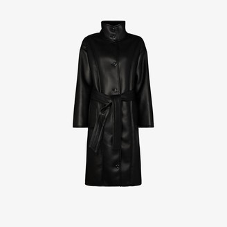 Stand Studio Krista faux shearling wrap coat