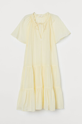 H&M Cotton-blend Tunic - Yellow