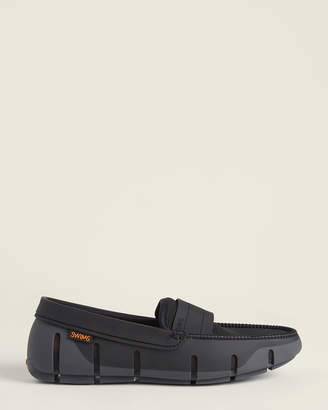 Swims Graphite & Black Stride Single Band Keeper Loafers