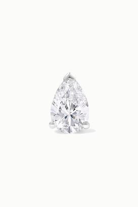 Maria Tash 6x4mm 18-karat White Gold Diamond Earring