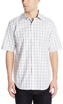 Bugatchi Men's Benito Short Sleeve Classic Button Down Shirt