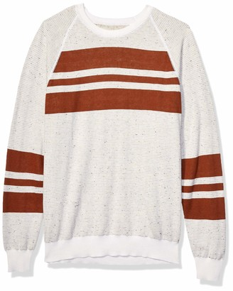 Billy Reid Men's Reversible Cotton Silk Long Sleeve Crew Neck Sweater