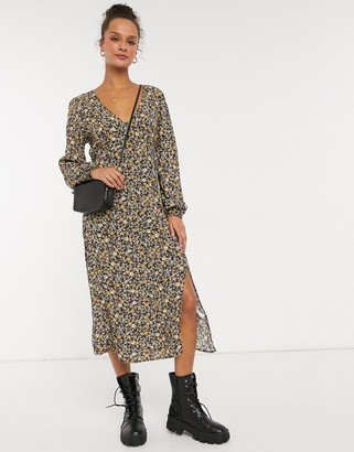 Cotton On Cotton:On long sleeve mid dress in ditsy floral