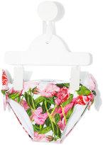 Dolce & Gabbana floral print bikini bottom - kids - Polyamide/Spandex/Elastane - 12 mth