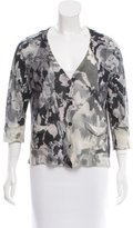 Dries Van Noten Cashmere-Blend Abstract Print Cardigan