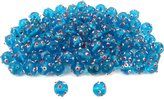 Generic Blue Round Dot Glass Beads Lampwork Beading Approx 100