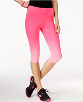 Material Girl Active Pink Ribbon Ombre Cropped Leggings, Only at Macy's