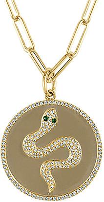 Sabrina Designs 14K 0.45 Ct. Tw. Diamond & Tsavorite Charm Necklace