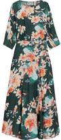 Paul & Joe Floral-print Crepe De Chine Midi Dress