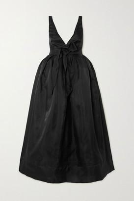Brock Collection Bow-detailed Silk-organza Midi Dress - Black