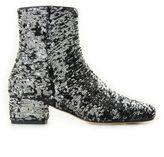 Chiara Ferragni Black-silver Sequins Ankle Boots