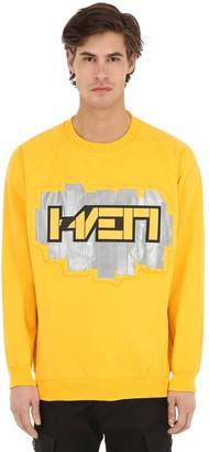 3d Patch Cotton Blend Sweatshirt