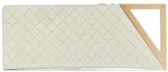 Bottega Veneta Baguette Intrecciato Leather Clutch - Womens - Beige Gold