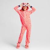 Cat & Jack Girls' Long Sleeve Deer Hooded Blanket Sleeper Orange