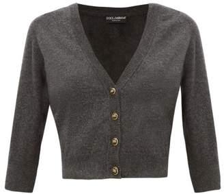 Dolce & Gabbana button Cropped Cashmere Cardigan - Womens - Dark Grey