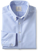 Classic Little Boys Long Sleeve Stripe Oxford Shirt-Blue Stripe