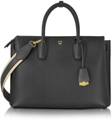 MCM Milla Park Avenue Black Leather Medium Tote