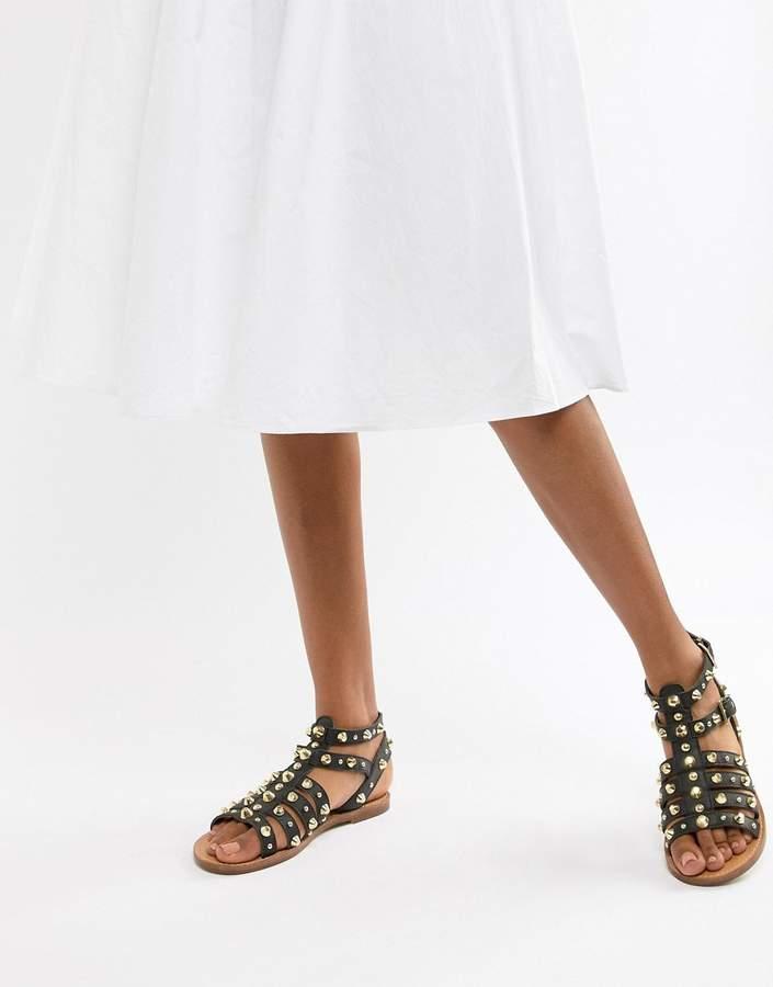 65e81410a8bd Asos Leather Women s Sandals - ShopStyle