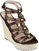GUESS Onixx Metallic Caged Wedges