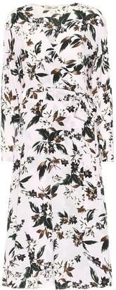 Diane von Furstenberg Elle floral silk wrap midi dress