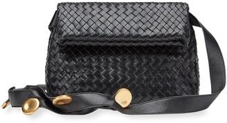 Bottega Veneta Intreccio Small Fold-Over Shoulder Bag