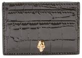 Alexander McQueen Skull Embossed Patent Leather Card Holder