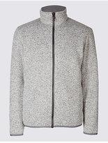 M&S Collection Textured Zipped Through Fleece Jacket