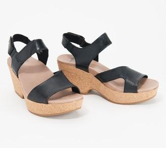 Earth Leather Platform Sandals - Khaya Kella