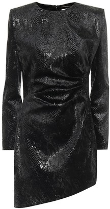 Saint Laurent Snake-effect minidress
