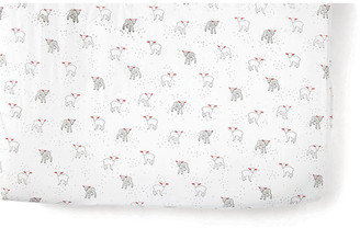 Pehr Lamb Baby Crib Sheet - Light Gray light gray/white