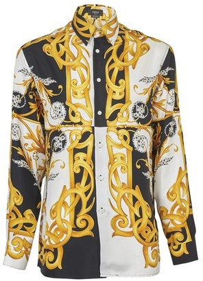 Versace Barocco long-sleeve silk shirt