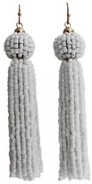 Women's Fashion Drop Earring with Beads - Gold/White