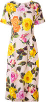 Dolce & Gabbana rose print cady dress - women - Silk/Spandex/Elastane/Viscose - 40