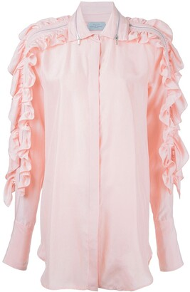 Preen by Thornton Bregazzi Ruffled Sleeve Shirt