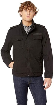 Levi's Two-Pocket Military Jacket with Polytwill Lining (Worker Brown) Men's Coat