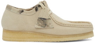 Clarks Off-White Suede Wallabee Moccasins