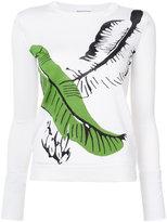 Sonia Rykiel palm leaf intarsia sweater