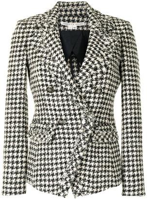 Veronica Beard Houndstooth Pattern Blazer