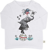 Stella McCartney Elephant-Graphic Long-Sleeve T-Shirt-WHITE