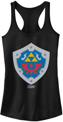 Nintendo Juniors' Legend Of Zelda Link's Awakening Hylian Shield Logo Tank