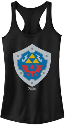 Nintendo Licensed Character Juniors' Legend Of Zelda Link's Awakening Hylian Shield Logo Tank