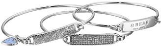 GUESS Dainty ID Bracelet Trio (Silver/Crystal) Bracelet