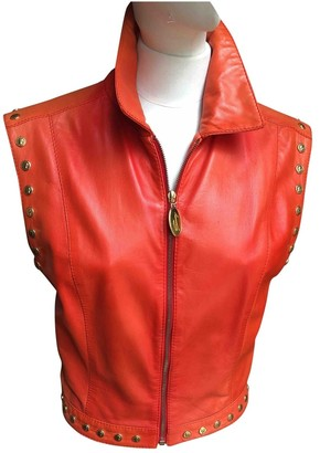 Genny Orange Leather Knitwear for Women