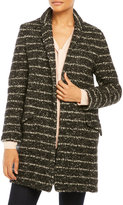 Vera Wang Coco Tweed Boyfriend Coat