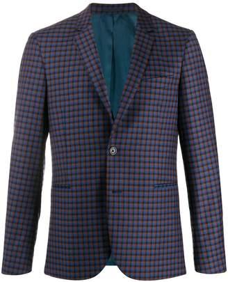 Paul Smith single breasted check pattern blazer